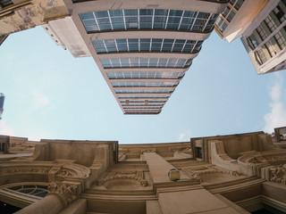 Old architecture versus Modern architecture