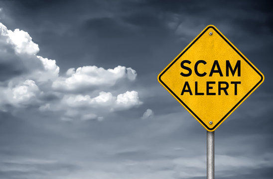 Scam Alert - warning sign