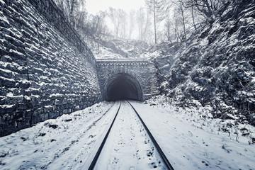 View of the old tunnel. Circum-Baikal Railway.