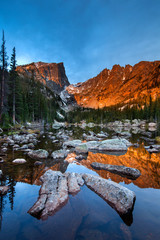 Sunrise on Dream Lake, Rocky Mountain National Park, Colorado