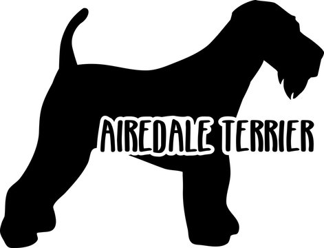 Airedale Terrier silhouette real word