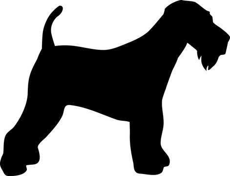 Airedale Terrier silhouette black