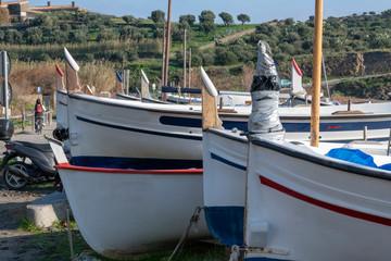 Port Lligat, small Mediterranean village.