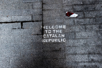 Welcome to the Catalan Republic.  . Figueres.