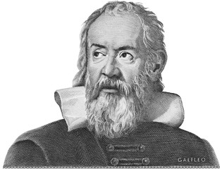 Galileo Galilei etching on Italy money. Genius scientist, philosopher, astronomer, mathematician, father of physics and astronomy, inventor of telescope