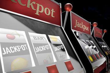 slot machine paying jackpot in online casino