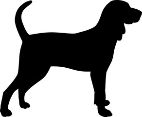 Black and Tan Coonhound silhouette black