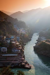 Devprayag, India: The official start of the Ganges River.