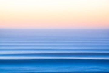 Slow shutter photo of sea
