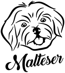 Maltester head silhouette german