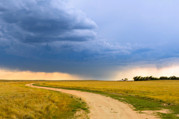 Along the Pawnee Pioneer Trails Scenic Byway in the Pawnee National Grasslands, Colorado.