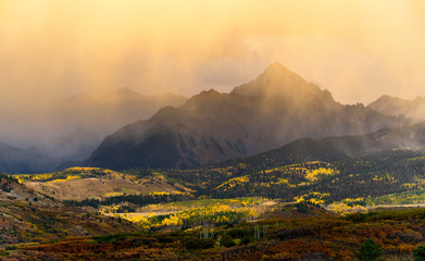The Dallas Divide in the Rocky Mountains during the fall, near Telluride Colorado.
