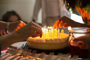 Birthday celebration for grandmother.
