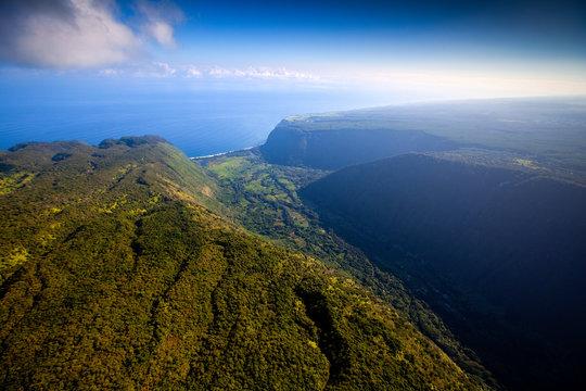 Waipio, Hawaii: Aerial view of Waipio Valley.