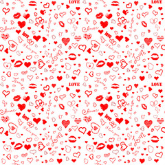 I love you seamless pattern