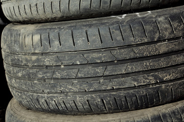 Texture of old tires.