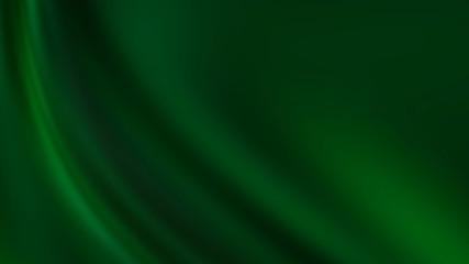 Dark green gradient background, smooth waves, empty background