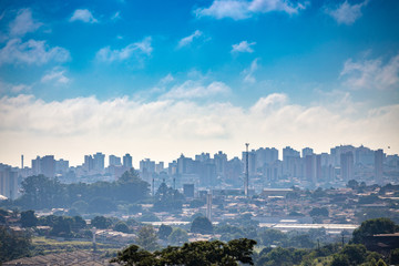 Bauru city view. The city is located in São Paulo state coutryside