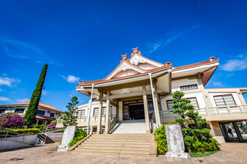 Japanese temple in Bauru city. The city is located in São Paulo state coutryside