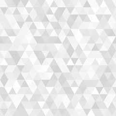Vector abstract gray background. Seamless modern pattern. Geometric texture with triangles.