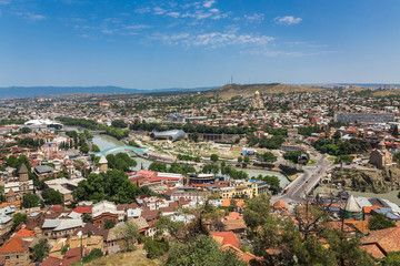 View of the Tbilisi from Narikala Fortress. Georgia