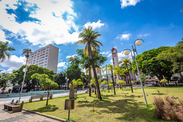 BAURU, SAO PAULO/BRAZIL - DECEMBER 29, 2018: Rui Barbosa place in Bauru city. The city is located in São Paulo state coutryside