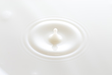 Simple Drop of Milk into a Bowl of Milk