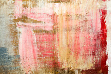 color abstract background created with oil paints on a wooden base, art abstract