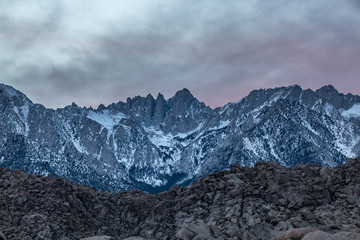 Mt. Whitney in Evening
