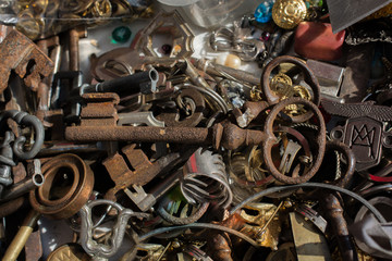 Retro styled key decorative key