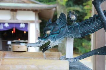 鎮国寺の手水(糸島市)