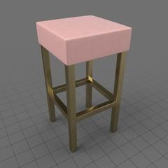 Modern velvet stool
