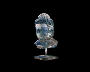 3d render of Budha sculpture
