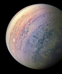 Jupiter (real photo, obtained from deep procesing of NASA's Juno mission RAW images)