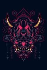 hannya mask sacred geometry