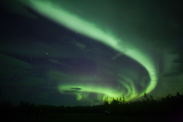 Luces del norte en Whitehorse, Yukon