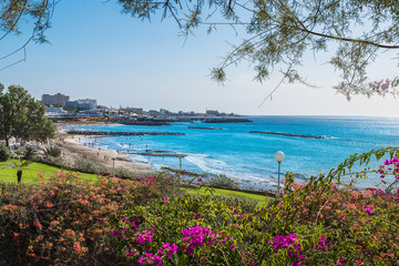 Wall Mural - Landscape with Fanabe beach at Adeje Coast, Tenerife, Canary Islands, Spain
