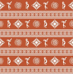 American pattern. Ethnic seamless ornament.