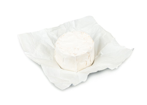 Brie cheese isolated