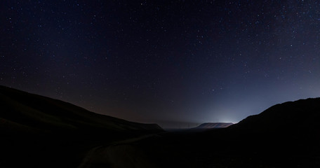 Starry sky on the Shamakhi Pass