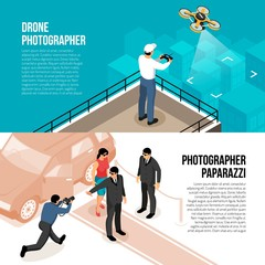 Photographer Isometric Banners
