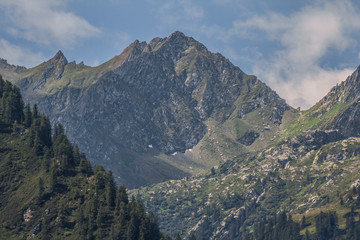 Mountain's landscape of the Alps