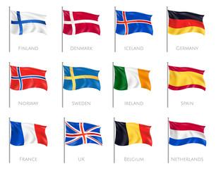 Flags Realistic Set