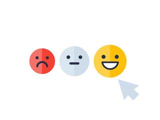 client satisfaction, happy customer vector