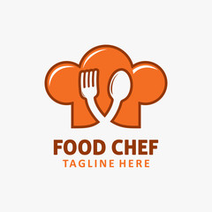 Food chef logo design