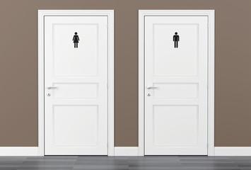 toilet wc restroom door women men 3D