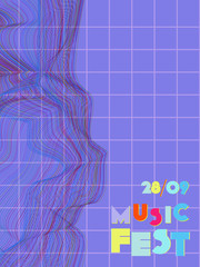 Music festival cover background.