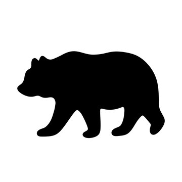 Bear silhouette. Vector illustration isolated on white background