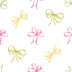 Hand painted watercolor seamless pattern for invitations,greeting card and design.
