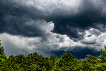 dark sky and storm clouds